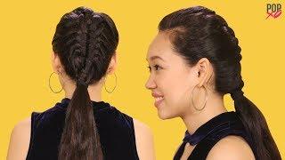 How To Make A Zipper Braid   Braid Hairstyles - POPxo
