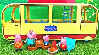 Peppa Pig's Transforming Camper Van  Camping Adventure Toy Surprise
