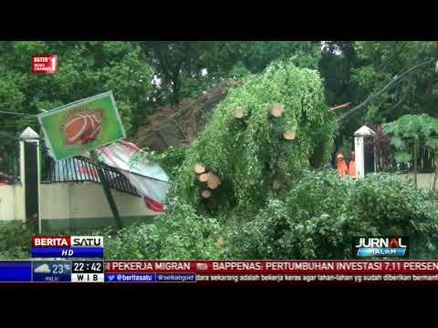 Pohon Tumbang Rusak Fasilitas Sekolah SMP Muhammadiyah 8