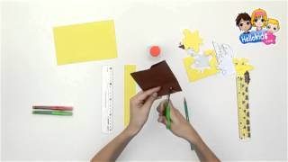 How to make a giraffe ruler - Kids Craft (Hellokids)