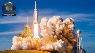 SpaceX Falcon Heavy, all 3 boosters landed! Successful launch of Arabsat 6A (4/11/2019)