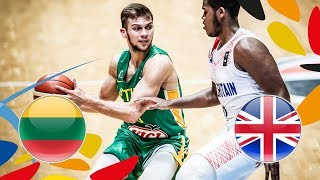LIVE 🔴 -  Lithuania v Great Britain - Game 9-10 - FIBA U20 European Championship 2018