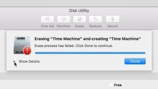Erase process has failed. Click done to continue. Disk Utility Error FIX | Mac