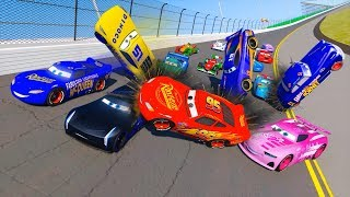 Racing Crash Cars 3 Daytona Fabulous Lightning McQueen & Friends Jackson Storm Cruz Ramirez for Kids