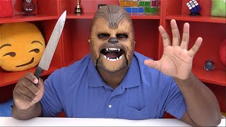 TRYING THE CHEWBACCA MASK REACTION!