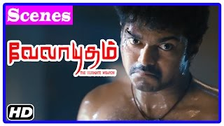 Velayudham Tamil Movie | Climax Scene | Vijay kills Abhimanyu and saves people | End Credits