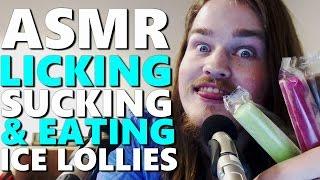 ASMR - Licking, Sucking & Eating Ice Lollies