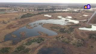 Botswana - Okavango Delta Flight highlights