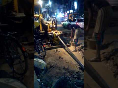 Dhaka WASA WORK IN ROAD PIPE FITTING FOR WATER SYSTEM