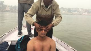 Boat Massage @ Holy Ganga River Varanasi Part-2| 4K