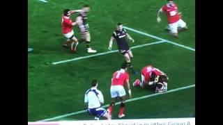 Huge hit on Cory Allen Wales v Tonga