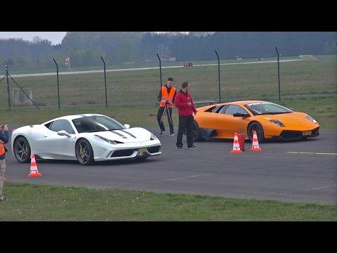Ferrari 458 Speciale vs Murciélago LP670 4 SV vs 991 Turbo vs McLaren 12C