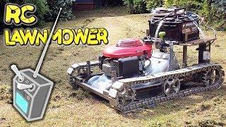 Radio Control  Lawn Mower with TANK TRACKS – a build by VegOilGuy