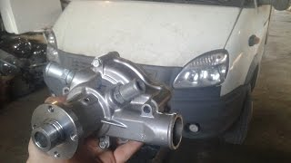Замена помпы на газели двигатель 4216 (водяной насос)