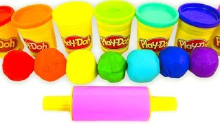 Learn Colors Play Doh Ice Cream Cones Play Dough Rainbow Colours Molds Fun & Creative for Kids