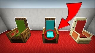 HOW TO MAKE PILLOW CUSHIONED CHAIRS in Minecraft! 1.2 (PE, XB1, PS4 , PC, Win10, Switch)