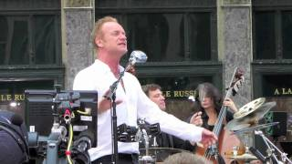 Sting performs
