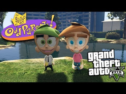 GTA 5 Mods - THE FAIRLY ODDPARENTS MOD w/ TIMMY TURNER & COSMO (GTA 5 Mods Gameplay)