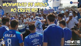 MOVIMENTO DE APOIO AO CRUZEIRO NA TOCA DA RAPOSA COM MENSAGEM DOS JOGADORES !!!