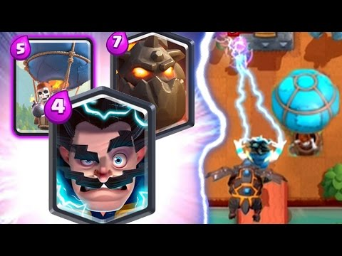 MOST DEADLY ELECTRO WIZARD COMBO DECK Clash Royale Lava Hound Loon