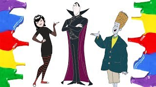 How to Draw and Color - Hotel Transylvania 3 Summer Vacation Coloring Pages