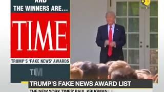 Trump announces fake news stand
