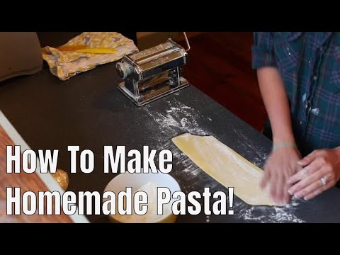 How To Make Homeade Pasta & Flash Freeze It