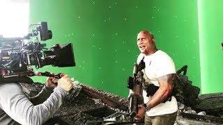 Dwayne Johnson(Rock) upcoming 'RAMPAGE' Behind the scene.