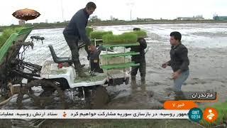 Iran Mechanized Rice cultivation, Amol county كاشت مكانيزه برنج شهرستان آمل ايران