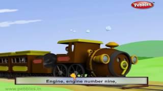 Engine Number Nine | Nursery Rhymes With Lyrics | Nursery Poems | 3D Nursery Rhymes For Children