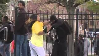 Mother Beats Son Baltimore Riots Street Fighter MK KI Whoop Ass Edition