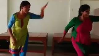 Dance of two Indian girls for a Tamil song