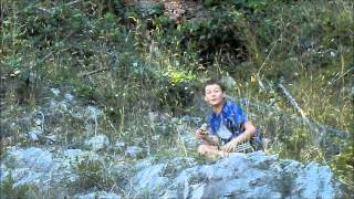 Boy Gets close to deer
