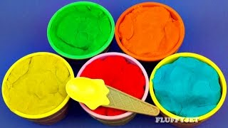 Learning Colors Play Doh Ice Cream Bowl Surprise Toys for Kids Thomas & Friends Elmo Cars 2 Minions