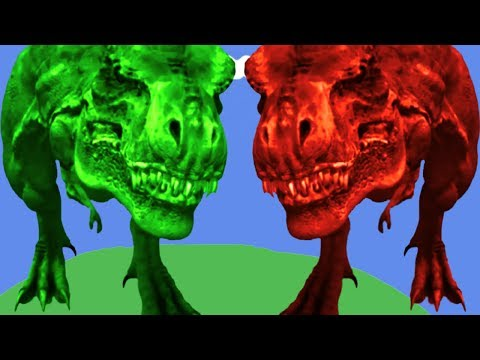 Dinosaurs cartoons for children Mega gummy bear Crying when see Giant Dinosaurs T REX LEARN COLORS F