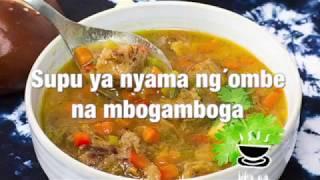Supu ya nyama ya ng´ombe na mbogamboha