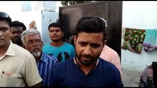 TRS Minhaj Ebees protest against bar and restaurant illegal in bandlaguda