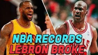7 NBA Records LeBron James Has BROKEN! Best LeBron NBA Records!