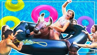 EPIC END-OF-SUMMER POOL PARTY with BrooklynAndBailey and Friends!