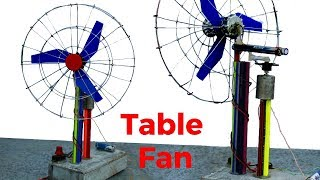How to make a Revolving Table Fan | Home Made Portable Fan