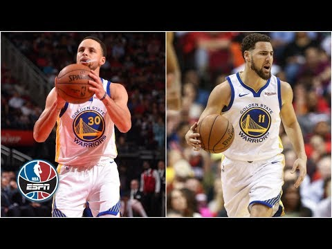 Klay Thompson Steph Curry DeMarcus Cousins lead Warriors past Rockets NBA Highlights