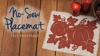FREE PRINTABLE PATTERN! DIY a No-Sew Mat for Your Autumn Table