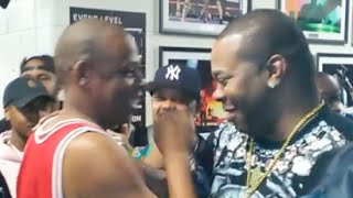 Jay Z And Busta Rhymes Meet Backstage At Diddy's Bad Boy Reunion Tour Barclay's