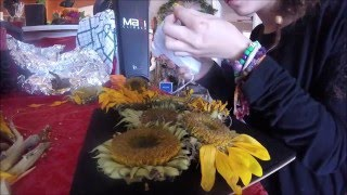 My sunflower shadow box with tutorial steps