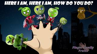 Superheroes Captain America Ironman Hulk Finger Family for Kids Spiderman Finger Family Song