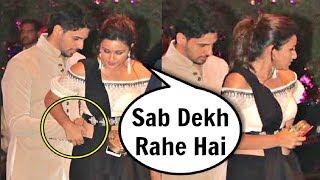 Parineeti Chopra Dress Adjusted By Sidharth Malhotra At Akash Ambani Engagement Party