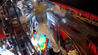 Judge Death in Judge Dead pinball machine at Fat Kat Tattoo in Jacksonville FL
