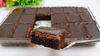 كيكة ال8 ملاعق الاسفنجيه بالشوكولاته بثلاث طبقات بحجم عائلي اطيب واسهل كيك شوكولا ممكن تعملها