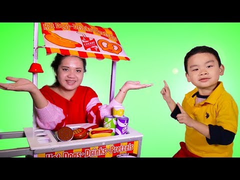 Xxx Mp4 Lyndon Pretend Play With Hot Dog Food Cart Toy 3gp Sex