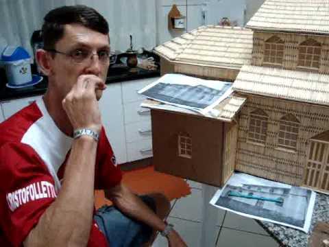 MARCIO RONSANI DEMONSTRAÇÃO DE TRABALHO ARTESANAL C PALITOS DE FÓSFORO.